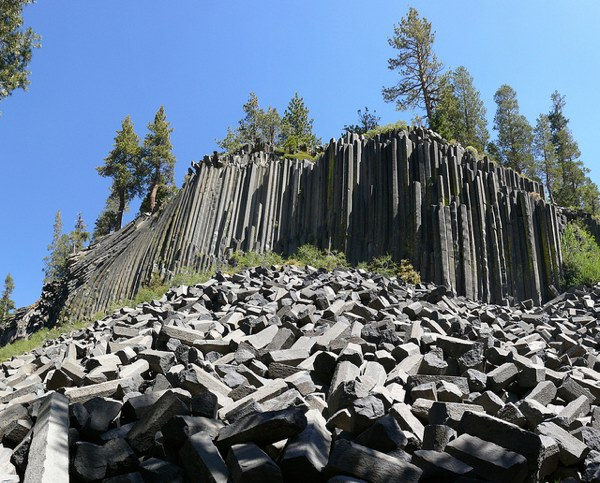 Devils Postpile is considered one of the best examples of columnar basalt in the world.