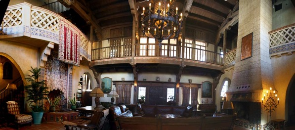 The Great Hall inside Scotty's Castle | Photo by Bob Greenburg, Courtesy of the National Park Service