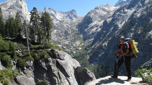 Tracie Denton on the High Sierra Trail. | Photo: Courtesy Tracie Denton