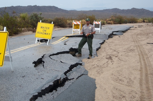 Flood Damage on Pinto Basin Road (Park Route 11) | Photo Courtesy National Park Service