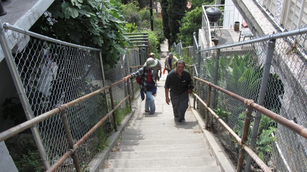 Walking Up A Staircase In Franklin Hills At This Yearu0027s Big Parade | Photo  By Zach