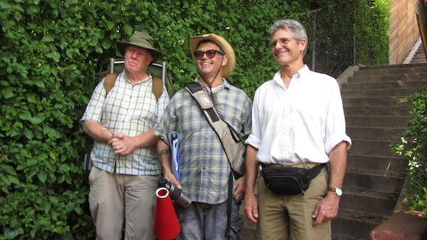From left to right: Bob Inman, Dan Koeppel, and Charles Fleming at the 2011 Big Parade | Photo: Zach Behrens/KCET