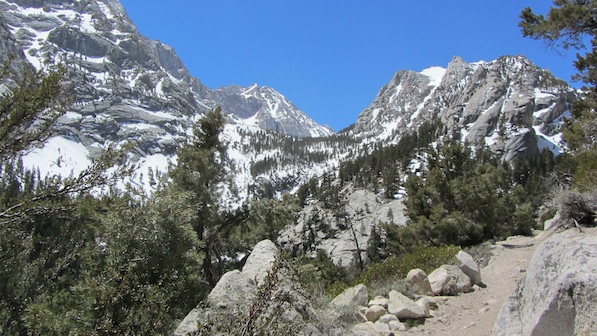 Near the beginning of the Mount Whitney Trail | Photo by Zach Behrens/KCET