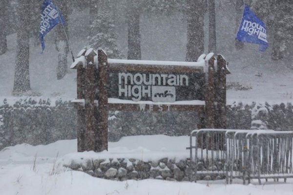 Plenty of snow this afternoon at Mt. High | Photo Courtesy Mt. High