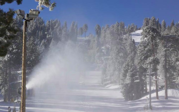 Mountain High in Wrightwood will continue snowmaking operations as the first day of skiing in Southern California begins | Photo Courtesy of Mountain High