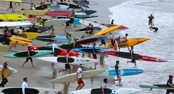 At the 1st Annual Santa Monica Paddleboard Race and Ocean Festival in 2010 | Photo Courtesy of the Santa Monica Pier