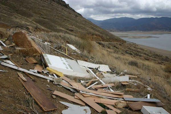The trash appeared to be from a remodel or small building demolition. | Photo: Courtesy USFS
