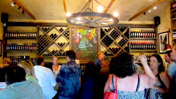 Wine tasting at Sip Malibu Cielo Winebar on Kanan Road | Photo by Zach Behrens/KCET