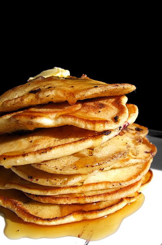 Blueberry Buttermilk Pancakes by Flickr user Free Range Jace