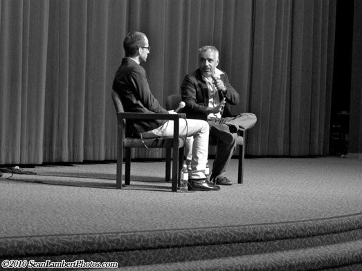 Director Javier Fuentes-Leon during Q&A at Outfest 2010.jpg