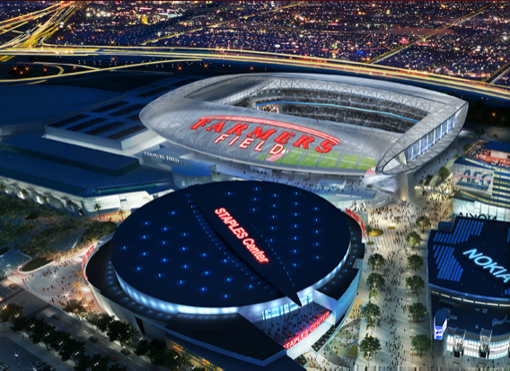 Rendering of proposed downtown L.A. football stadium | Courtesy AEG