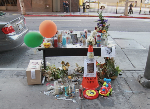 Memorial for Marcello Vasquez of Montebello, California on Spring on July 21, 2011 ˆI Ed Fuentes