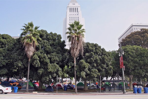 Occupy L.A. encampment at City Hall I Photo: Ed Fuentes