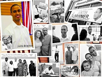 Detail of a Justin Brimmer campaign ad