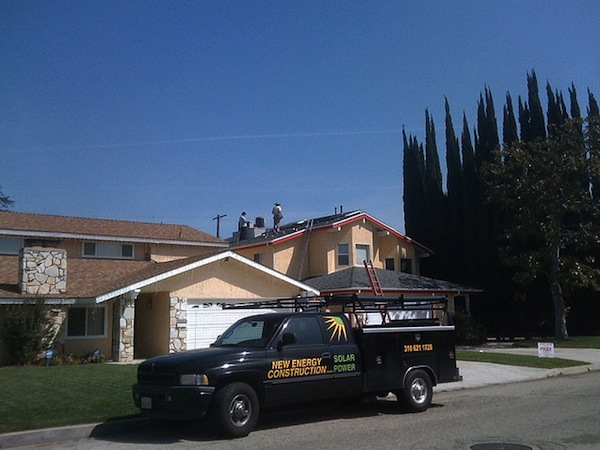 Rooftop installation in Los Angeles