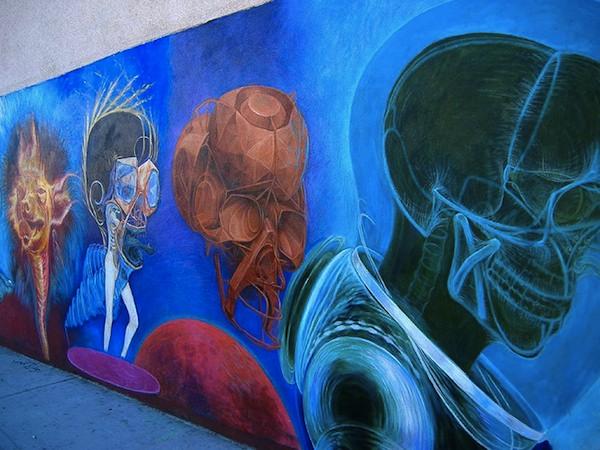 A mural in Los Feliz seen in 2007