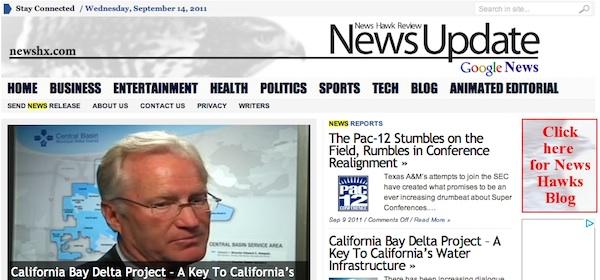 Screenshot of the News Hawk Review website