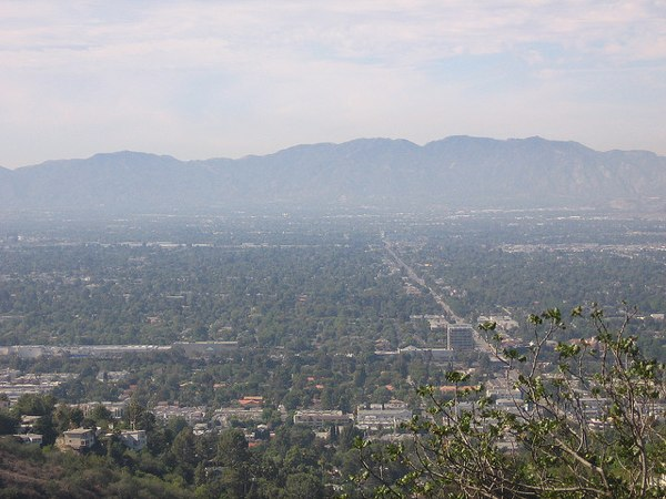 View overlooking the San Fernando Valley