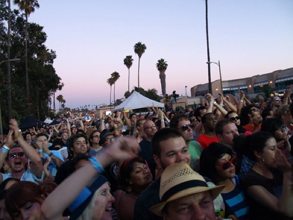 A crowd at the Sunset Junction Music Festival in 2007