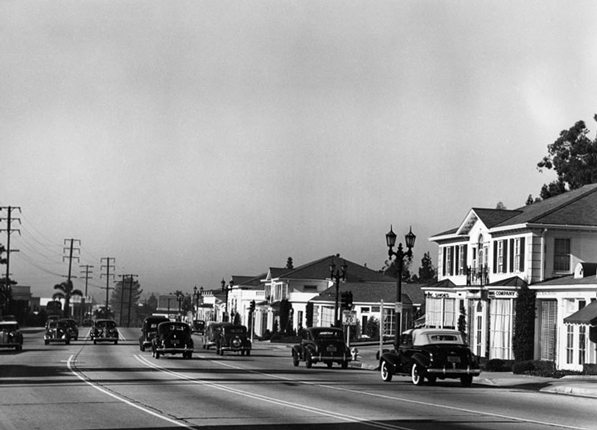 The Sunset Strip in 1939. Courtesy of the Los Angeles Public Library Photograph Collection
