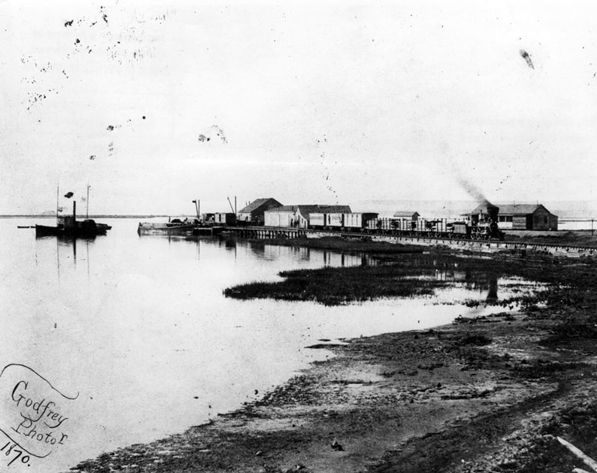 Wilmington in 1870. Courtesy of the Courtesy of the Los Angeles Public Library Photograph Collection.
