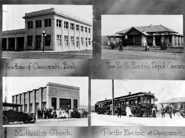 Four Owensmouth buildings, 1914. Courtesy of the Photo Collection, Los Angeles Public Library