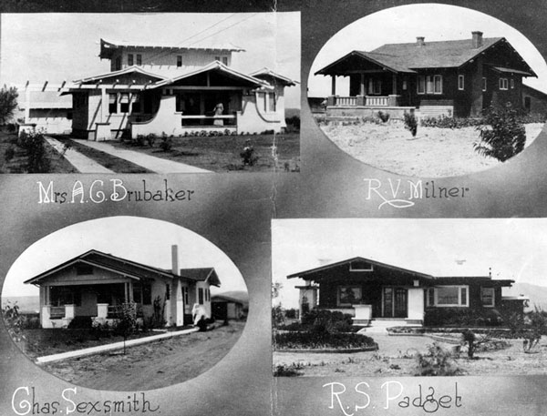 Four Owensmouth residences, 1914. Courtesy of the Photo Collection, Los Angeles Public Library.