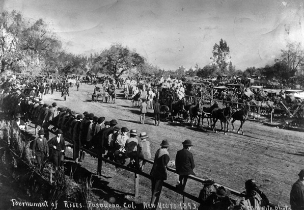 The 1893 Tournament of Roses Parade. Photo courtesy of the Herald-Examiner Collection, Los Angeles Public Library.