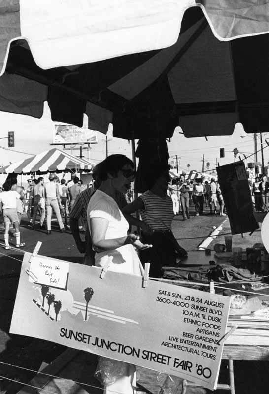 Inaugural Sunset Junction Street Fair in 1980. Courtesy of the Los Angeles Public Library.