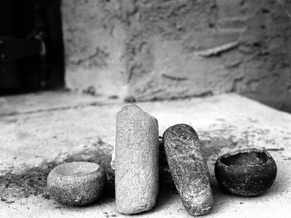 Grinding tools used by Southern California's indigenous peoples. Courtesy of the Photo Collection, Los Angeles Public Library.