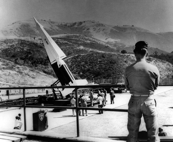 A Nike anti-aircraft missile site in the San Fernando Valley. The last L.A.-area Nike missile site was closed in 1974. Courtesy of the Los Angeles Public Library Photograph Collection.