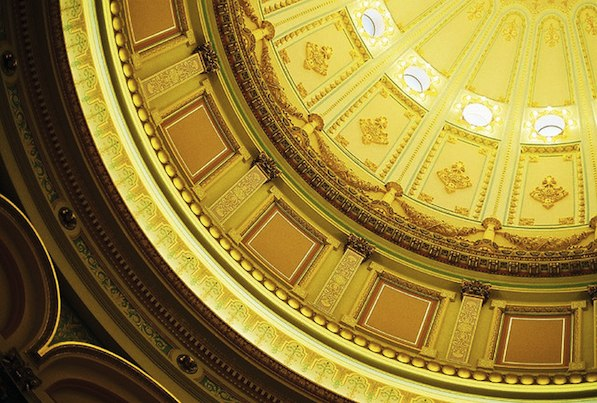 Interior of the Capitol Dome in Sacramento