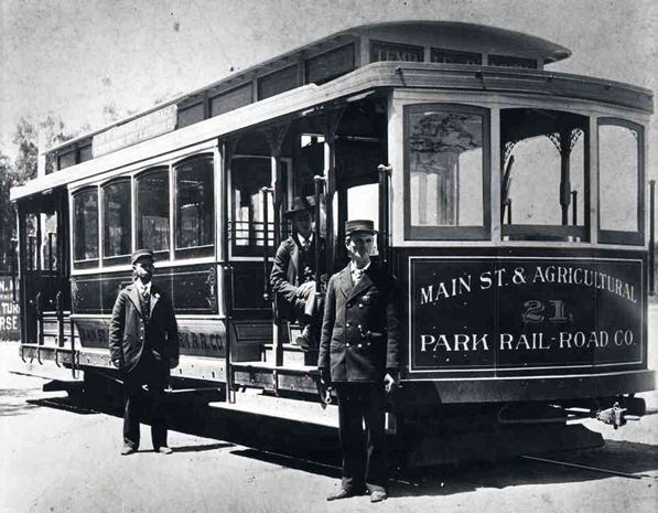 Main Street and Agricultural Park Railroad streetcar. Courtesy of the Metro Transporation Library. Used under a Creative Commons license.