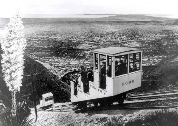 The Echo Mountain incline railway transported Southern Californians into the San Gabriel Mountains. Courtesy of the Metro Transportation Library and Archive.