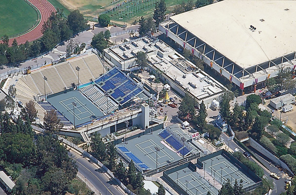 UCLA hosted tennis competitions during the 1984 Olympics. Courtesy of the LA84 Foundation.