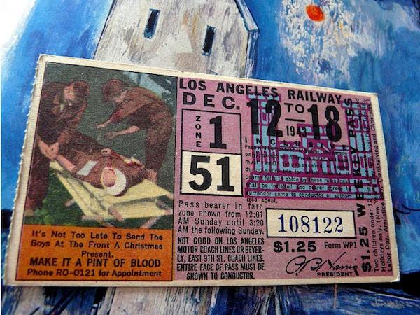 A 1943 L.A. Railway ticket