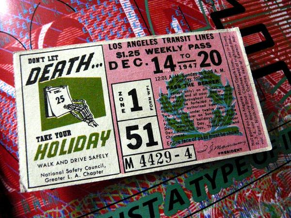 A 1947 L.A. transit pass