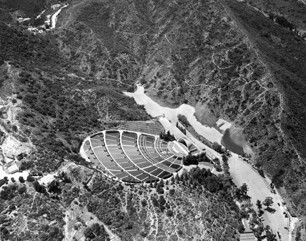 Aerial view of the Hollywood Bowl. Courtesy of the Dick Whittington Collection, USC Libraries.
