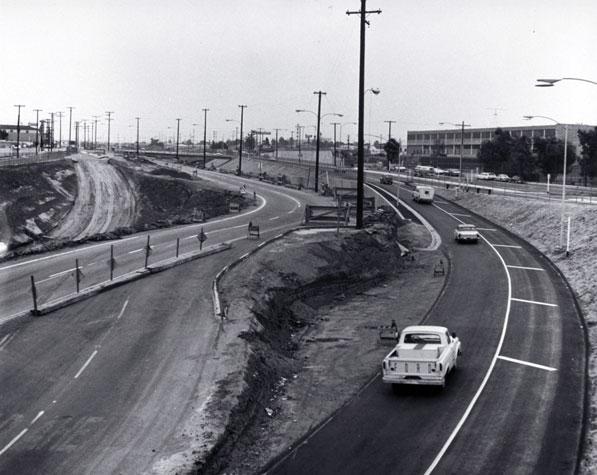 Preparation for the construction of Interstate 10 through Santa Monica, circa 1965. B106. Courtesy of the Santa Monica Public Library.
