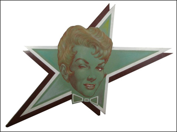 Artist unknown. Beverly Shaw Star Sign from Club Laurel in North Hollywood (c. 1950s). Courtesy ONE National Gay & Lesbian Archives.