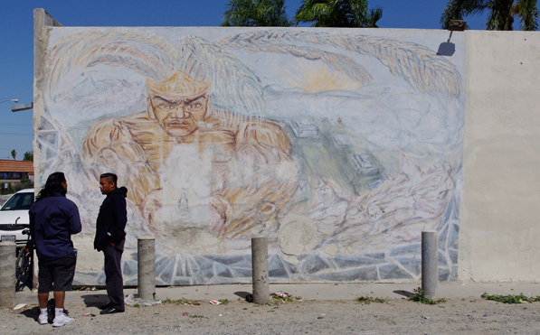 The neighborhood of Casa Blanca has murals dating back to 1971.