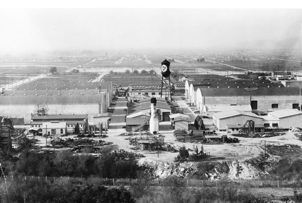 First National Studios in Burbank, circa 1927-1931. The studio facility is today the home to Warner Bros. Pictures. Courtesy of the California Historical Society Collection, USC Libraries.
