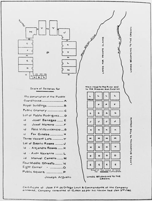 This reproduction of Arguello's map translates the document into English. Courtesy of the California Historical Society Collection, USC Libraries.