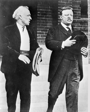 Lummis with former President Theodore Roosevelt in 1912. Courtesy of the USC Digital Library