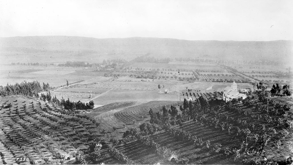 A typical view of the agrarian Los Angeles Basin in the late 19th century. Photo of Hollywood circa 1900 courtesy of the Title Insurance and Trust / C.C. Pierce Photography Collection, USC Libraries.