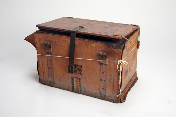 Union Army officer's trunk. Courtesy of Archives and Special Collections, William H. Hannon Library, Loyola Marymount University.