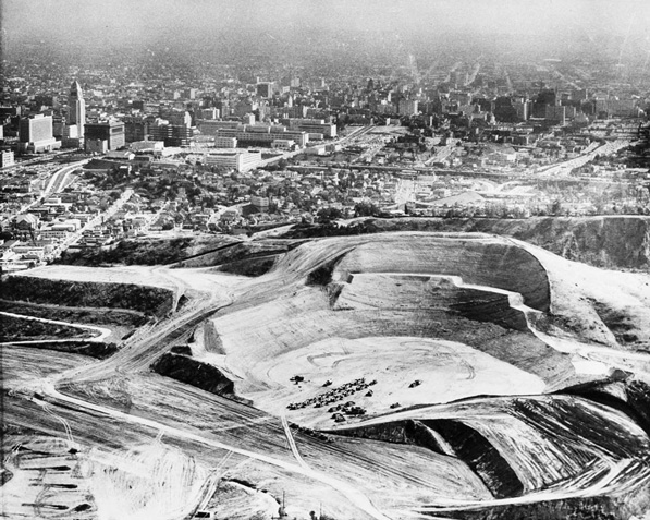 Dodger Stadium under construction on May 25, 1960. Courtesy of the USC Libraries' Los Angeles Examiner Collection