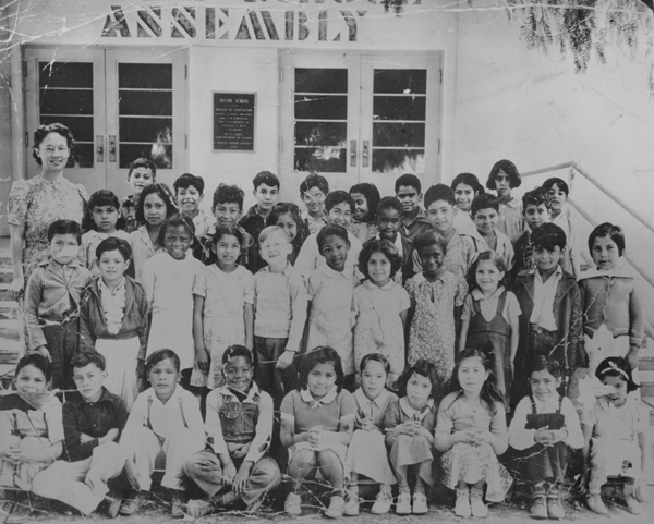 Alberta Sims in her 1940 Irving School Class Photo