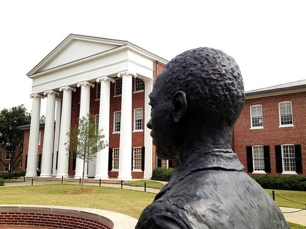 The statue of James Meredith at the University of Mississippi.
