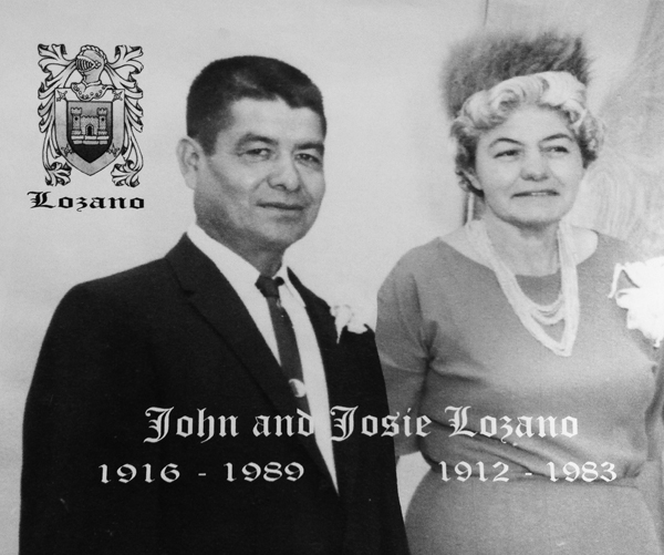 Historic photo of John and Josie Lozano